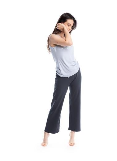 Pamuk & Pamuk Kadın Füme Pantolon Baskılı Pijama Takımı Renkli